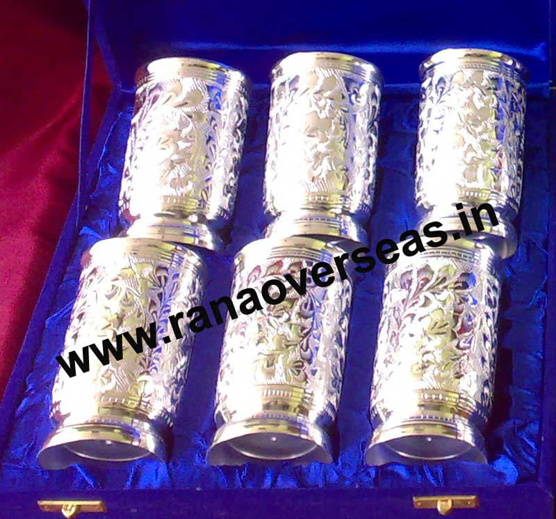 SILVER PLATED GLASS SETS