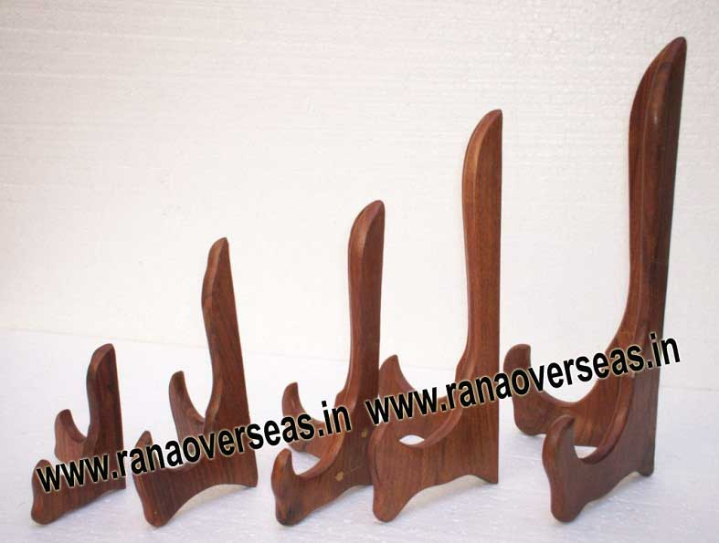 Wooden Plate Stand