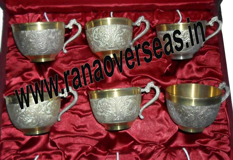 SILVER PLATED TEA CUP AND SAUCER SET