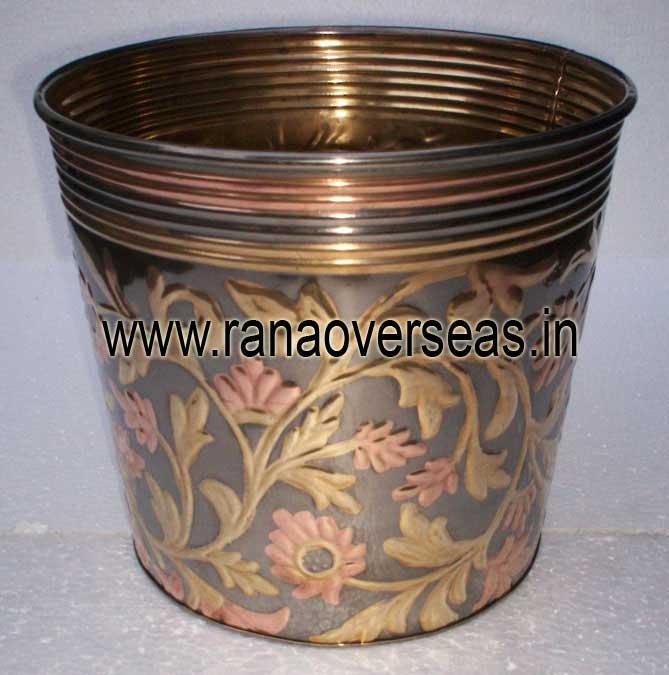 BrassMetalPlanter4013